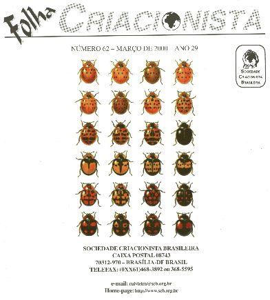 Folha Criacionista Nº. 62 – Março de 2000 – Ano 29