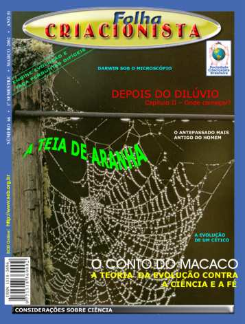 Folha Criacionista Nº. 66 – Março de 2002 – Ano 31