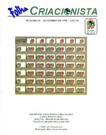 Folha Criacionista Nº. 59 – Setembro de 1998 – Ano 28