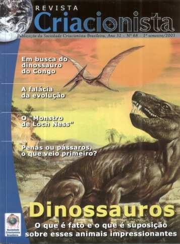 Folha Criacionista Nº. 68 – 1º Semestre de 2003 – Ano 32