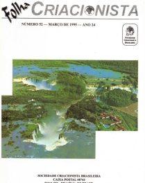 Folha Criacionista Nº. 52 – 1º Semestre de 1995 – Ano 24