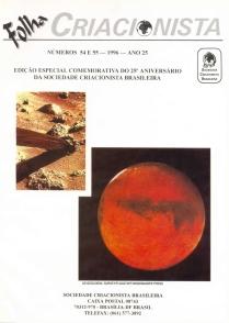 Folha Criacionista Nº. 54 e 55 – 1996 – Ano 25